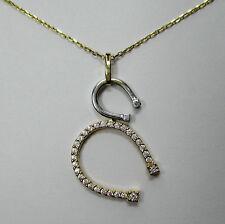 505 - Elegantes Hufeisen Collier aus Gold 585 mit Zirkonia ---  -969-