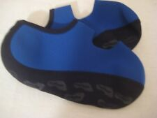 Nufoot Women's Childs Yoga Travel Gym Lightweight Relief Slippers Blue EUC Sz S