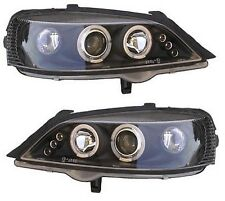 Vauxhall Astra G all models 1998-2004 DRL Black Angel Eye Car Headlights