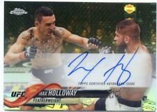 2018 Topps UFC Chrome MAX HOLLOWAY Fighter Auto Refractor Card Autograph