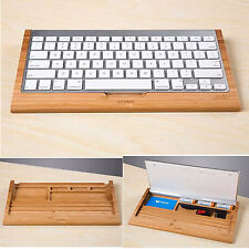 Luxury Wooden Stand Dock Tray For Apple iMac G5 G6 Bluetooth Wireless Keyboard