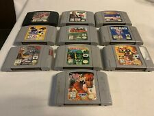 Nintendo N64 Lot of 10 Games Cartridges Only No Duplicates