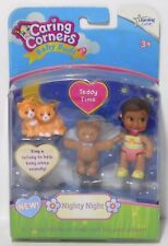NIGHTY NIGHT Baby Buds Learning Curve Caring Corners Doll Figure Set NEW