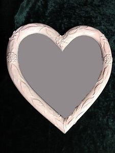 Wall Mirror Heart Shape Baroque Gold White Purple Black Silver Love Gift