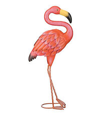 Metal Flamingo Statue Sculpture Garden Bird Yard Art Decor Lawn Home Outdoor New