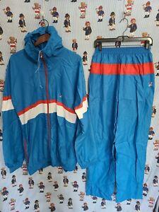 Vtg Vintage 80s 90s Mens K-Way France blue two-piece suit Windbreaker size 8 XL