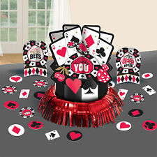 23 Piece Place Your Bets Casino Playing Card Night Party Table Decorating Kit