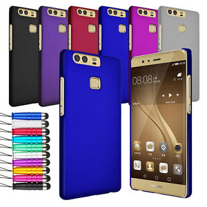 For Huawei P9 Thin Slim Hard Shell Case Back Cover + Screen + Stylus