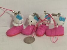 Hello Kitty Charms Lot Of (4) Pcs PinkColor Shoes Differents Styles Tomy Gacha.
