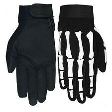 Gants été squelette  moto custom guantes skull gloves Handschuhe