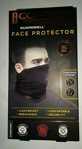 Face Mask Copper Fit Guardwell Neck Gaiter Charcoal Grey adult one size