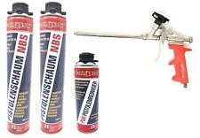4er Set 1k PUR- Pistolenschaum NBS Made in Germany Bauschaum Pistolenreiniger