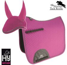 HyWITHER Sport Active Dressage Saddle Pad/Fly Veil Set – Bubblegum Pink, Cob/Ful