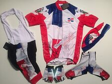 New size 3XL - DOMINICAN REPUBLIC Team Cycling Flag Bike Set Jersey Bib Shorts +