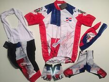 New size S - DOMINICAN REPUBLIC Team Cycling Flag Bike Set Jersey Bib Shorts +