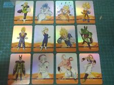 Dragon Ball Z Series X Metal Complete Set 12 Lamincards Full Laser Cards