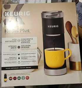 Keurig K-Mini Plus Single Serve K-Cup Pod Coffee Maker Matte Black Open Box