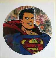 "Superman 12x12"" signed print By Frank Forte Pop Surrealism DC Comics Neo Pop art"