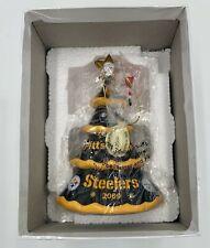 Danbury Mint 2009 Pittsburgh Steelers Nfl Christmas Tree Ornament In Box ~ Mint
