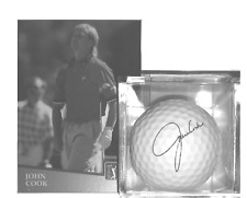 JOHN COOK SIGNATURE GOLF BALL & HIS PGA CARD UNIT