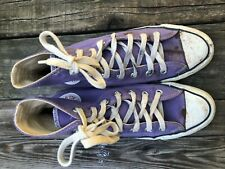 Vintage Converse All Star Chuck Taylor Shoes Purple Hi Tops  Made In USA Size 8