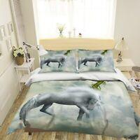3D Cloud Horse ZHUA1960 Bed Pillowcases Quilt Duvet Cover Set Queen King Zoe