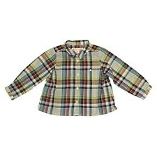 Bonpoint Baby Boy Long-Sleeve Button-Down Check Shirt Size 18M *NWT*