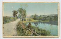 Palmer, MA - BOSTON ALBANY RR ROUTE NEAR TRAIN STATION DEPOT - Postcard - P