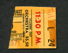 1971 Jethro Tull Cowboy concert ticket stub Fillmore East Bill Graham