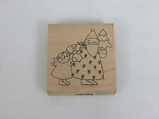 Christmas Theme Rubber Stamp Come Along 3""