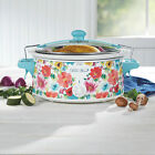 The Pioneer Woman Breezy Blossom 6 Quart Portable Slow Cooker, 33062 photo