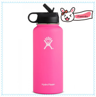 Hydro Flask Water bottle Stainless Steel,Insulated with Straw Lid- 32oz,Flamingo