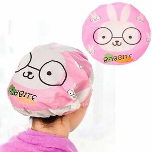 Cute Quickly Cartoon Turban Shower Cap Hair Wrapped Towel Dry Hair Shower Hat