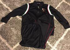 Vintage Black Fila Sport Embroidered Logo Track Suit Jacket & Pants Mens XXL EUC