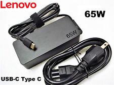 NEW Genuine Original OEM LENOVO 65W USB-C AC Adapter Charger 01FR030 ADLX65YLC3A