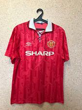 Vintage Manchester United 1992 1994 Hogar Camiseta De Fútbol Maglia Camiseta  Umbro 86896bb1cb155