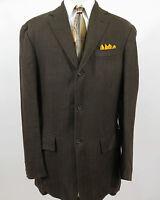 Polo Ralph Lauren Heavyweight Linen Brown Italian Blazer Jacket Sport Coat 44 L