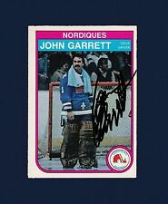 John Garrett signed Quebec Nordiques 1982 Opee Chee hockey card