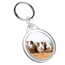 1 x Cute Guinea Pigs Pet Animal - Keyring IR02 Mum Dad Kids Birthday Gift 2326