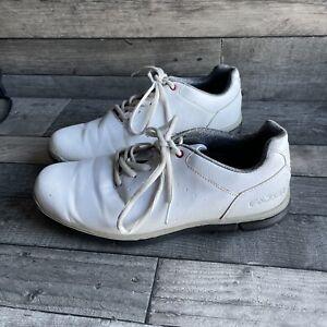 Mens Fazer Size 8 White Golf Shoes