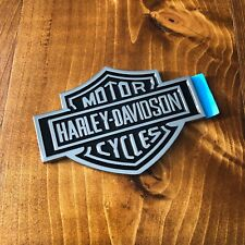 "New - Harley-Davidson™ Chrome Motor Cycles Emblem Sticker Badge Logo 4"" 110mm HD"