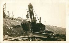 1 1/2-Yard Steam Shovel & Early Dump Truck, Antrim, New Hampshire NH RPPC