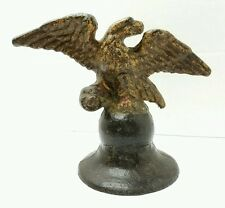 Antique Cast Iron Eagle on Cannonball / Bell Primitive Americana Doorstop