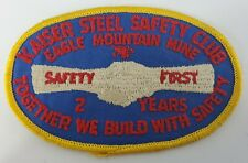 Kaiser Steel Safety Club Patch Eagle Mountain Mine Vintage