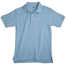 School Uniforms Light Blue S/S Polo Shirt French Toast 4 Unisex Cotton Blend