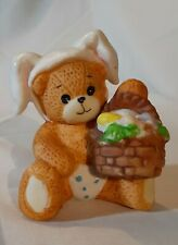 "Enesco Lucy & Me Figurine Teddy Bear Baby Easter Bunny Diaper Lucy Rigg 2"" 1990"