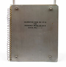 Vintage: Metal Radio Calibration Book - MC-177-D for Frequency Meter B-221-D