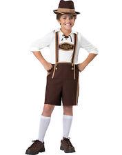 Bavarian Boy Oktoberfest Hansel Brown Lederhosen Halloween Costume