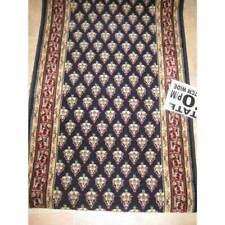 Hallway Runner Carpet Rug Blue Wool 67cm Wide Estate Mir Per Metre Floor Rugs
