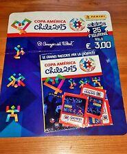 Album figurine Copa America Chile 2015 15 BLISTERATO Sealed + 5 bustine packets